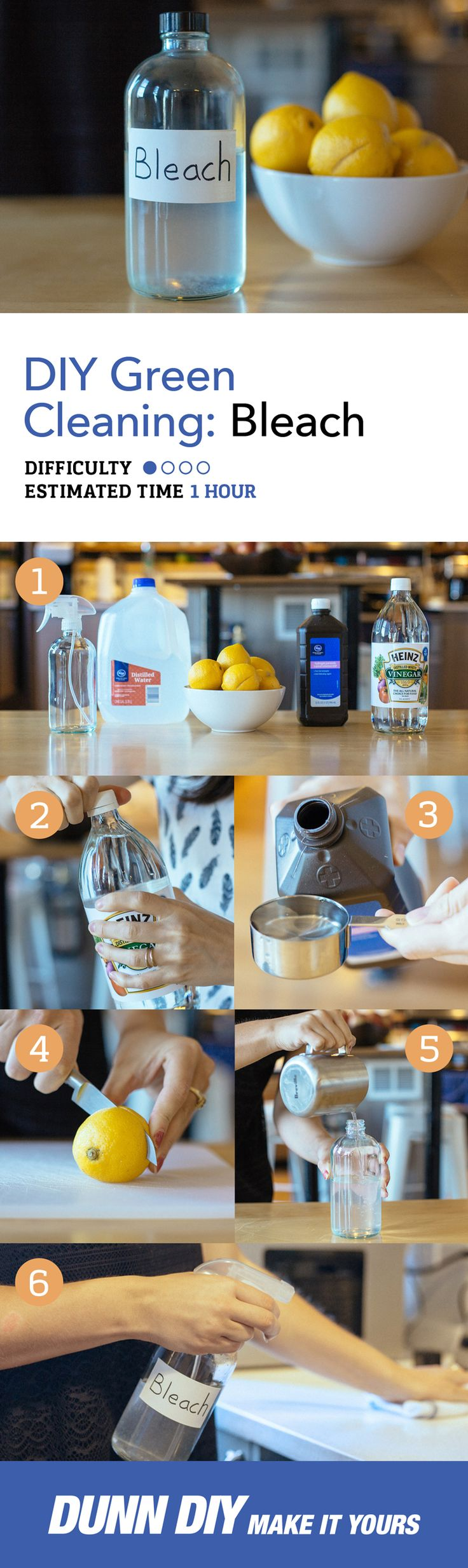 Green Cleaning | DIY Bleach This homemade bleach is non-toxic! It's perfect for removing stains, cleaning your tub and shower, and disinfecting countertops. And it smells amazing!