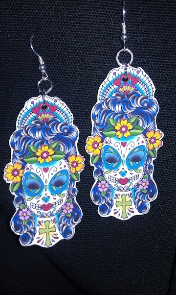 shrinky dink earrings  #ecrafty @K D Eustaquio at eCrafty.com #shrinkydinks  #shrinkjewelry #shrinkcharms
