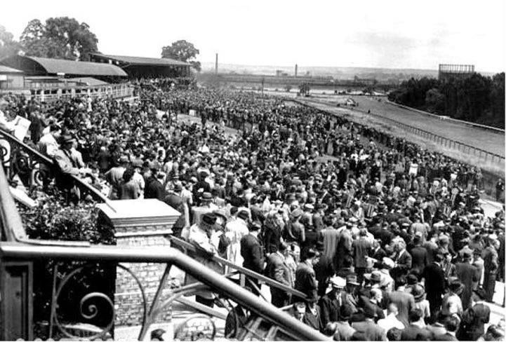 Race track at Alexandra Palace, London in its heyday