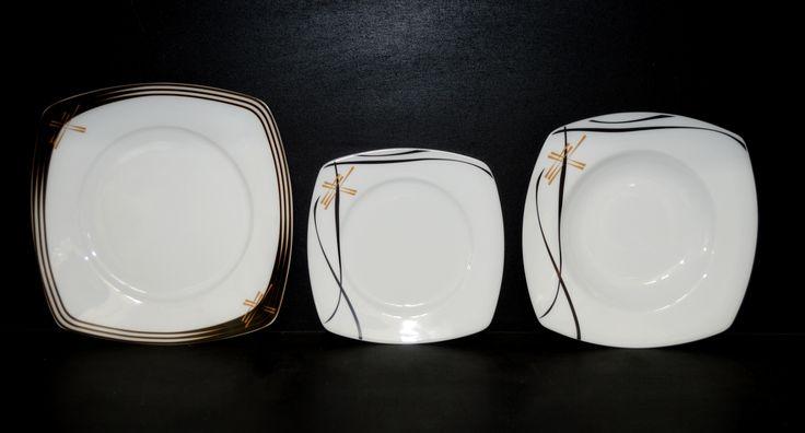 Sada talířů Tetra 049V 18 dílná. Moritz Zdekauer - Jídelní soupravy, talířové sady, ostatní soupravy | Verner a syn