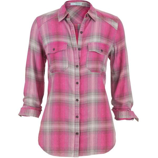 maurices Plaid Button Down Shirt In Gray And Hot Pink ($29) ❤ liked on Polyvore featuring tops, plaid, royal pink, plaid button up shirts, pink top, grey button up shirt, plaid shirt and grey shirt