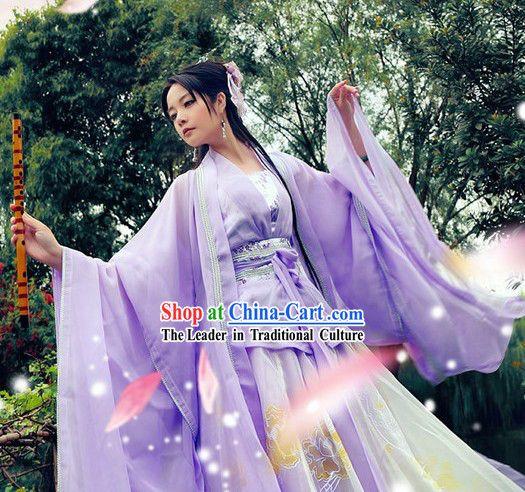 Zhou Zhiruo Purple Hanfu Clothes in The Heaven Sword and Dragon Saber