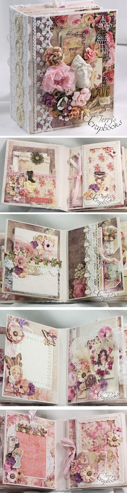 Terry's Scrapbooks: Prima Tales Of You & Me Mini Album Reneabouquets DT project
