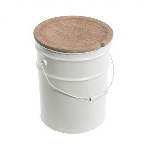 Taburete con tapa de madera