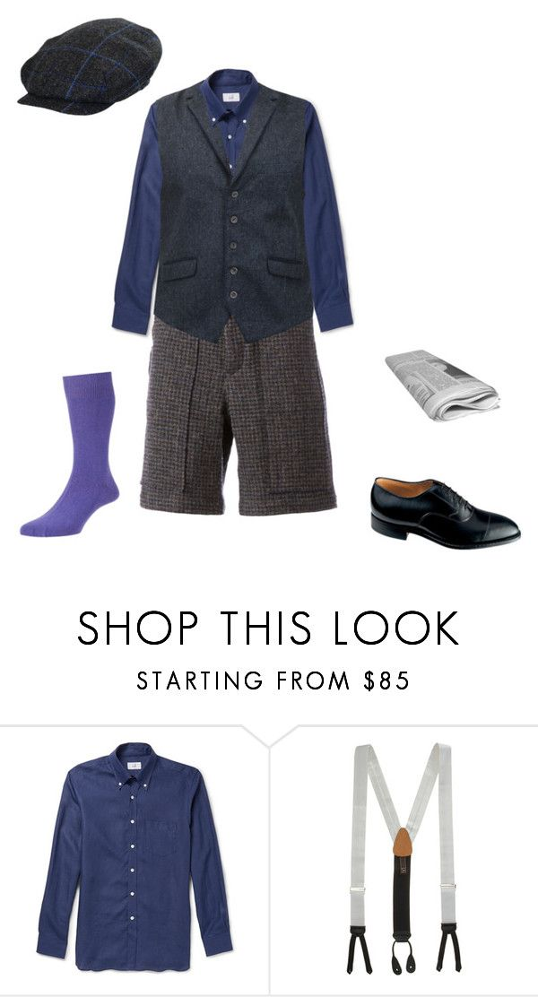 """""""Newsies OC 4"""" by mouserz-wuz-here ❤ liked on Polyvore featuring Dunhill, Trafalgar, Johnston & Murphy, men's fashion and menswear"""