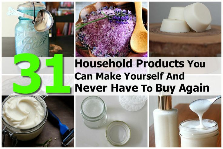 31 Household Products You Can Make Yourself And Never Have To BuyAgain - http://www.hometipsworld.com/31-household-products-you-can-make-yourself-and-never-have-to-buy-again.html