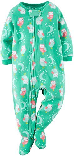 Carter's Baby Girls' 1-Piece Footed Fleece Pajamas  http://www.yearofstyle.com/carters-baby-girls-1-piece-footed-fleece-pajamas/