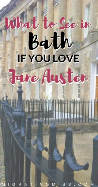 Top Things To Do In Bath, England If You Love Jane Austen - What to do, where to go, where to eat and where to stay in Bath if you want the full Jane Austen experience!
