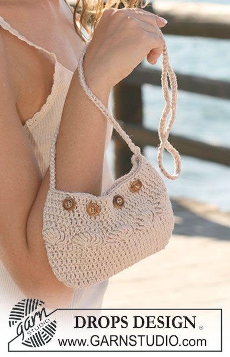 "Small crochet DROPS bag in ""Muskat"".. ❤CQ crochet bags baskets totes bolsas borse tote"