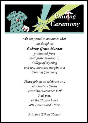 91 best Nurse Graduation Announcements Invitations images on - graduation program