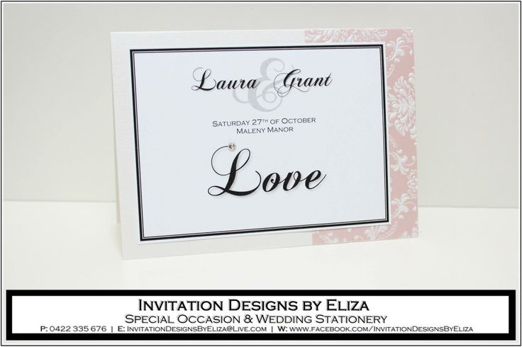 Table Card Designs  {Wedding} Pale Pink, Pale Yellow & Pearl Theme www.facebook.com/InvitationDesignsByEliza