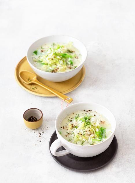 Zitronen-Spitzkohl-Suppe. 30 Minuten.