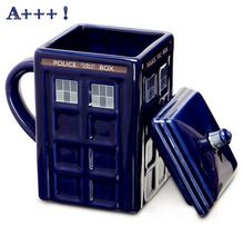 Ücretsiz kargo Doctor Who Tardis Yaratıcı noel Için Police Box Kupa Komik Seramik Kahve Çay Bardağı Hediye(China (Mainland))