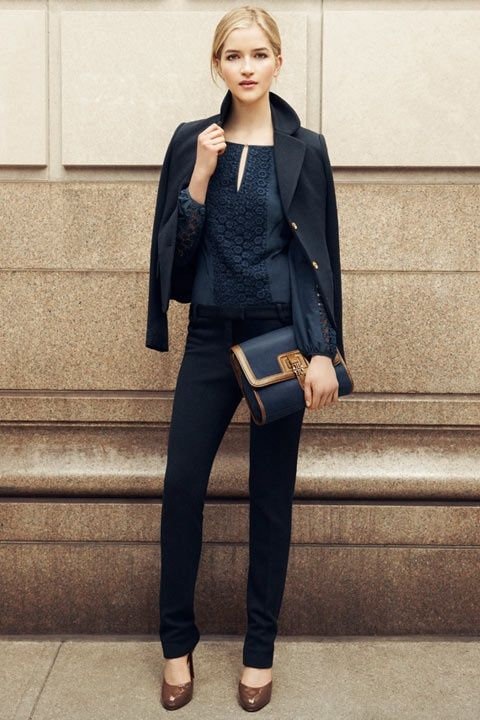 Simply chic monochromatic look.
