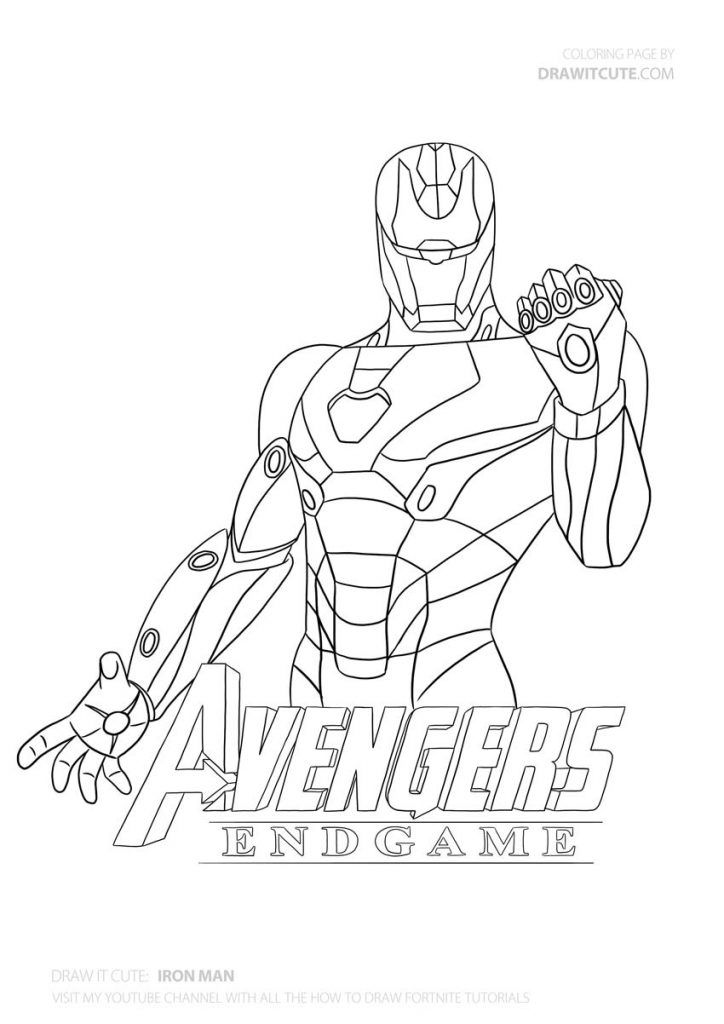 How To Draw Iron Man With The Infinity Stones Step By Step Superheroes Drawing Tutorial Draw It Cute Ironma Superhero Coloring Pages Iron Man Art Iron Man
