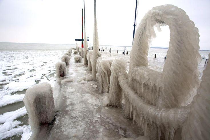 Lago Balaton, Ungheria, febbraio 2014