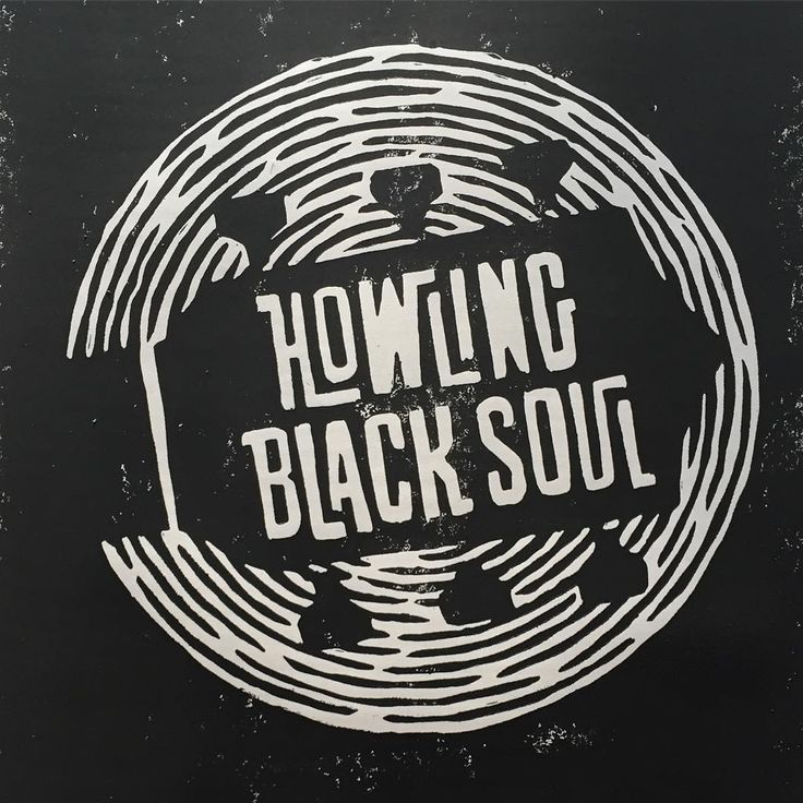 howling black soul, music, UK band, rock, rock&roll, gig poster, custom type, guitar