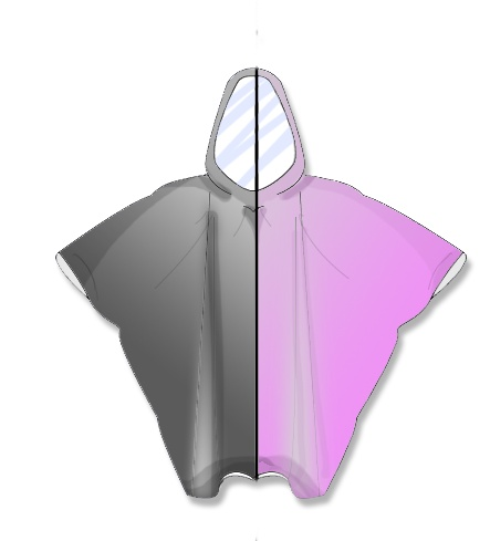 Disposable Rain Poncho available in Black & Pink £1.65