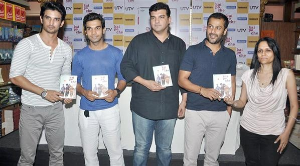 Raj Kumar Yadav, Sushant Singh Rajput, Abhishek Kapoor and Siddharth Roy Kapur were present at the Bollywood video (dvd) launch of  'Kai Po Che!'.
