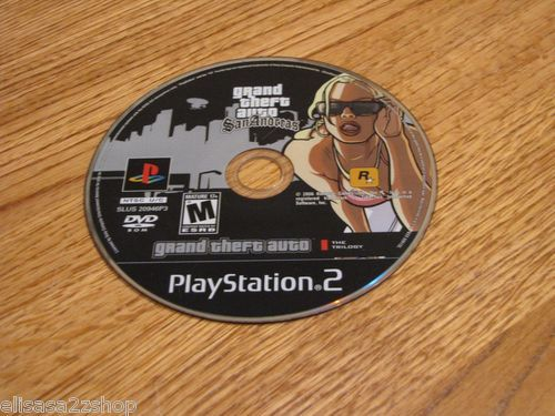 Grand Theft Auto San Andreas playstation 2 PS2 mature game disc only trilogy