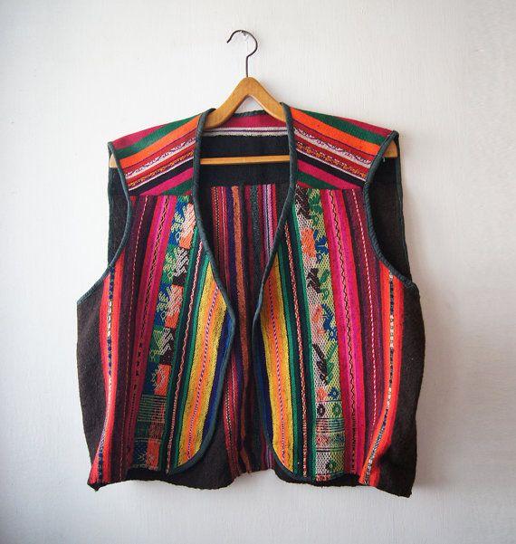 Vintage West Balkan Handmade wool weaving  Ethnic door DorisVintage