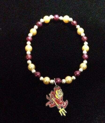 Arizona State University Sun Devil bracelet by azCreationsByAlyssa