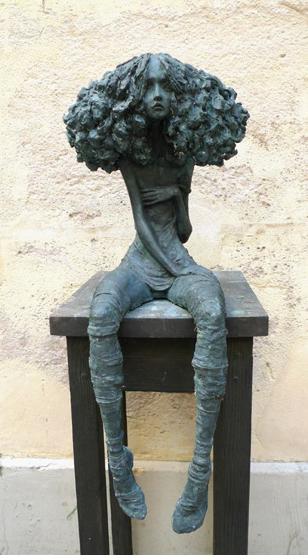 MATIERES D'ART : Valérie Hadida Candide - Terre ou bronze H 70 cm