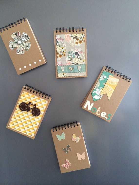 Magnetic Notepad A7 by JollyHollyCreations on Etsy