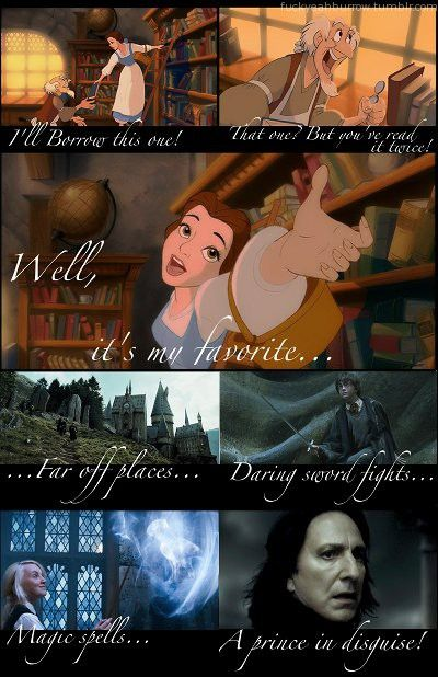 Harry Potter/Beauty and the Beast.Magic Spelling, Favorite Things, Disney Princesses, Harrypotter, Book, Harry Potter, Belle, The Beast, Disney Movie