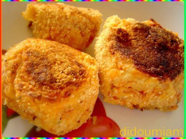 Croquettes de purée de pommes de terre et jambon
