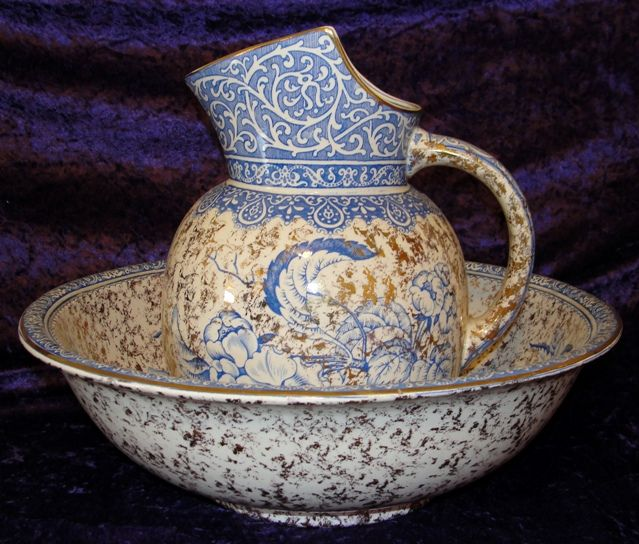 500 best pitcher basin sets images on pinterest furniture auction and bowls. Black Bedroom Furniture Sets. Home Design Ideas