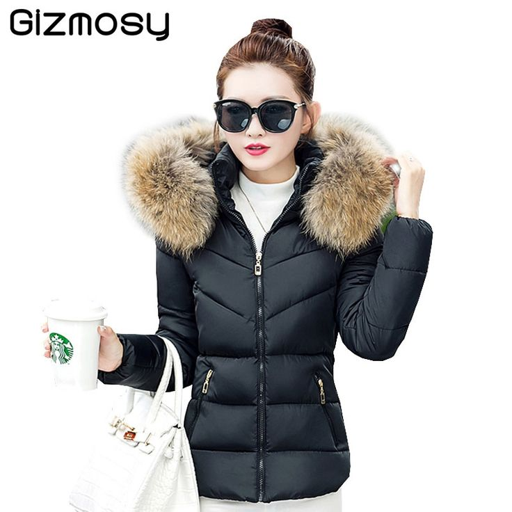 23.29$  Buy here - http://alijv5.shopchina.info/1/go.php?t=32766665689 - Fur Collar Hooded jacket Winter Women thick Snow Wear Coat Lady Plus Size Clothing Female Warm Cotton Jackets Parkas BN188 23.29$ #buyonline