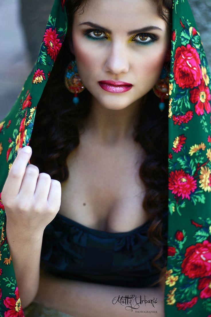 ♥ FRIDA ♥  - model / actress: Kristína Mečko - makeup: Katarína Kondákorová Make-up - earrings: CHAROIT  -  shawl  is a sewing workshop: LUXURY Day - handmade