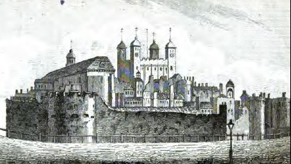 The Tower of London from Leigh's New Picture of London (1818)