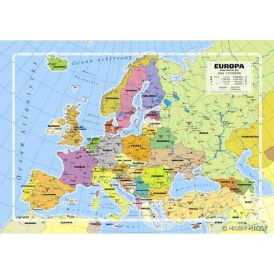 Puzzle z obrazkiem mapy EUROPY. Opakowanie zawiera 260 elementów. Doskonała rozrywka dla całej rodziny!