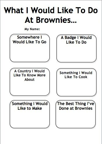 What I would like to do at Brownies