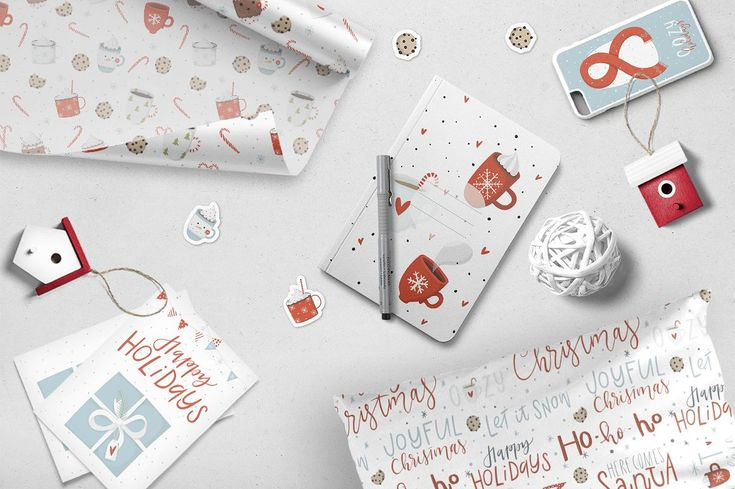 Merry Christmas - cute and cozy set by Artnis on @creativemarket