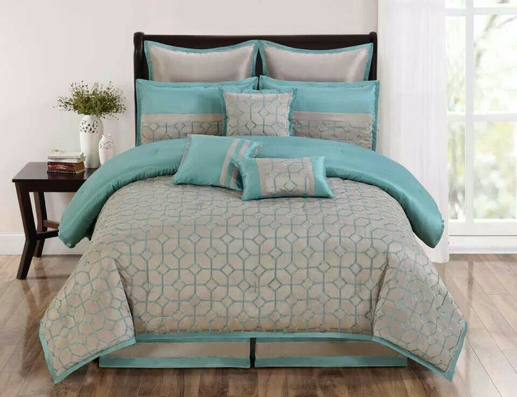 Turquoise And Gray Bedding Set For The Home Pinterest