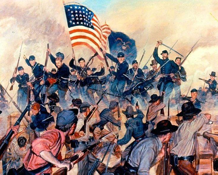 US CIVIL WAR SIEGE OF VICKSBURG MSOIL PAINTING ART REAL CANVAS GICLEEPRINT #Realism