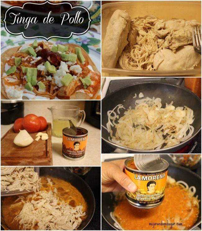 Receta para preparar Tinga de Pollo #MejorRecetas #cbias [ad]