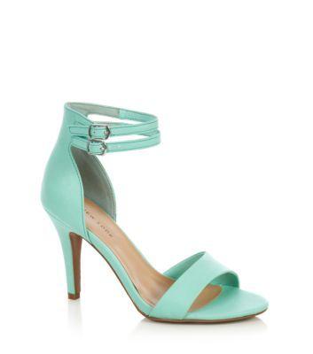 Mint Green Double Ankle Strap Heels