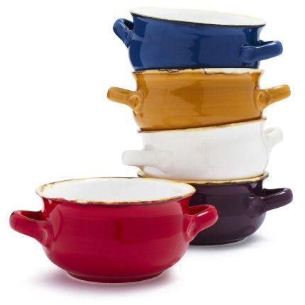 Italian Double Handle Soup Bowl For The Kitchen Pinterest