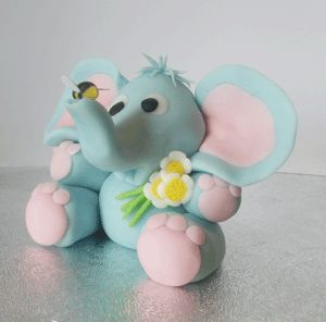Cute elephant tutorial sugar paste