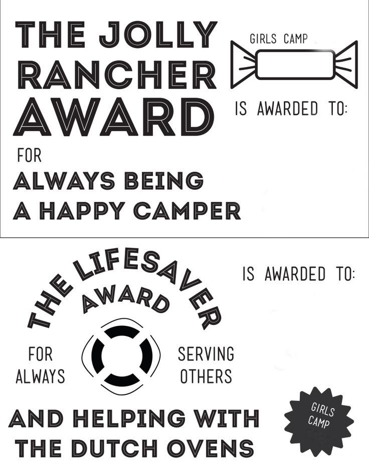 The  Best Camp Awards Ideas On   Girls Camp Awards