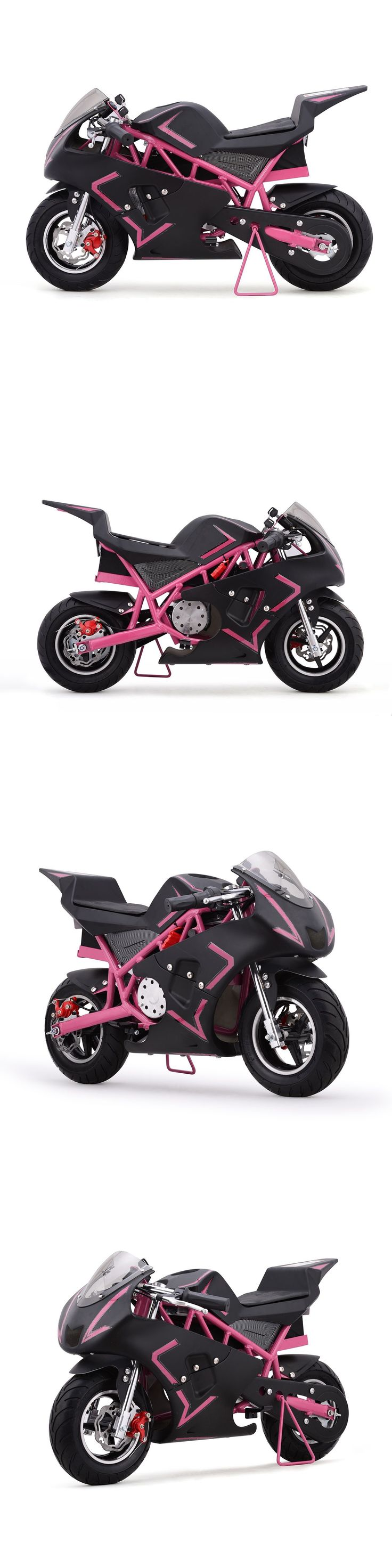 Motorcycle gloves with id pocket - Toy Vehicles 145946 Pink Motorcycle Mini Pocket Bike Electric Battery 500 Watt 36v Boys Girls