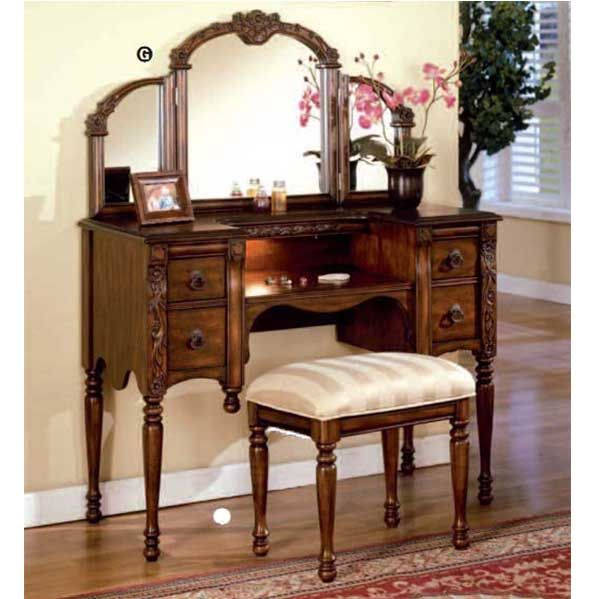 Ashton Walnut Finish Vanity Table with Stool Set by Acme Furniture, - 39 Best Makeup Vanity Tables Images On Pinterest Makeup Vanities
