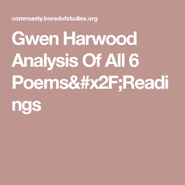 Gwen Harwood Analysis Of All 6 Poems/Readings