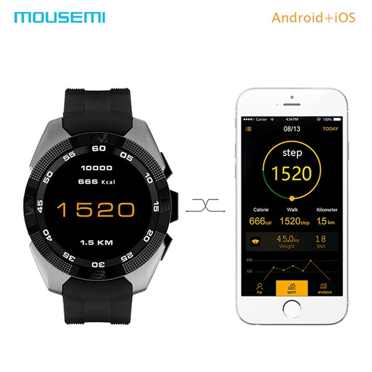 (51.66$)  Watch now - http://ai65d.worlditems.win/all/product.php?id=32783122273 - MOUSEMI NB-1 Smart Watch Android/iOS Bluetooth Phone Connecter Waterproof Smart Watches Heart Rate Monitor Smartwatch For iPhone