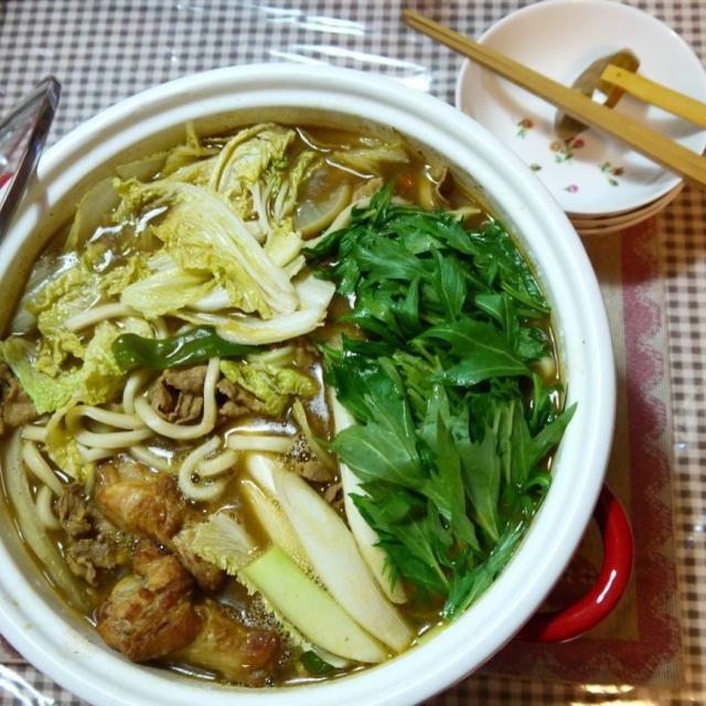 生姜入りカレー鍋で体がポカポカして来ました ^ ^ - 12件のもぐもぐ - カレー鍋うどんでポッカポカ ^ ^ by ykoko