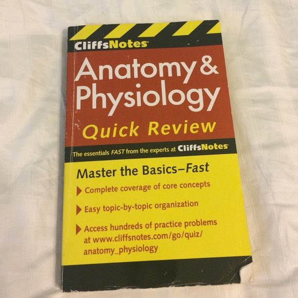 Anatomy and Physiology Book Anatomy and Physiology Book. A couple of the first pages have a few sentences highlighted but that's the only highlighting. Review questions in the back. Very good study review! Other